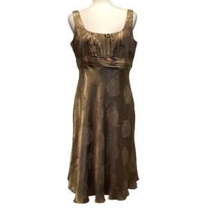 EVAN PICONE GOLD SPECIAL OCCASION DRESS SZ 12